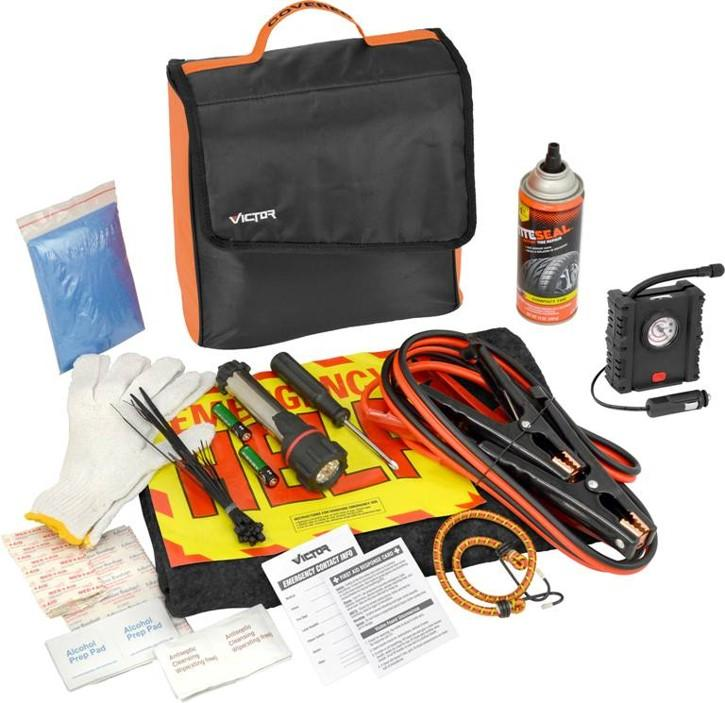 amazoncom victor      piece covered emergency road kit automotive