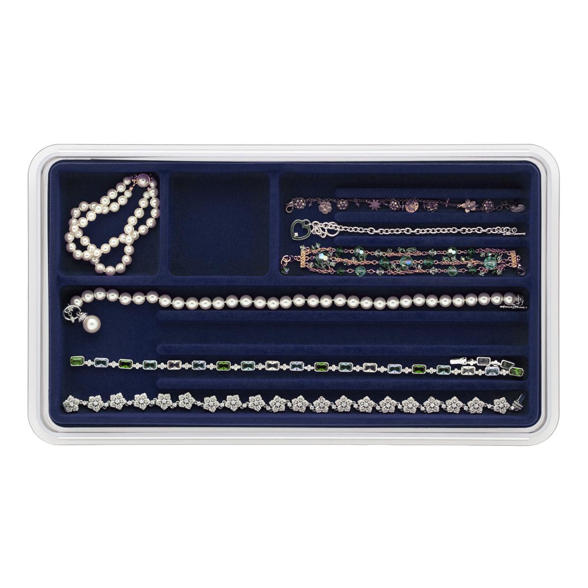 Amazoncom Neatnix Jewelry Stax Necklace Organizer Tray Midnight
