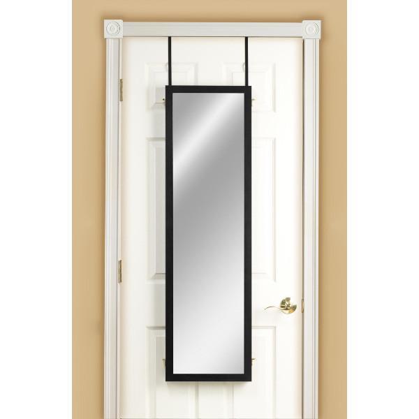 mirrotek 3vu1448bk triple view professional over the door dressing mirror with ebay. Black Bedroom Furniture Sets. Home Design Ideas
