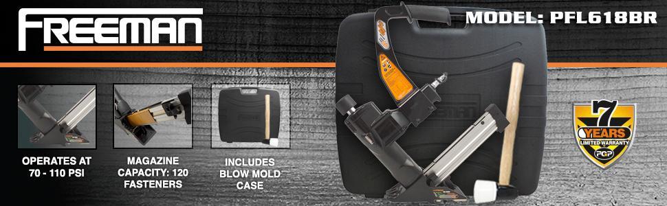 freeman, professional, pfl618br, installation, warranty, blow mold case, magazine, diy, best