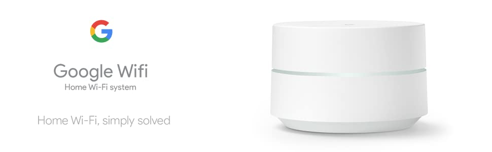 Google WiFi system, 3-Pack - Router replacement for whole home coverage  (NLS-1304-25)