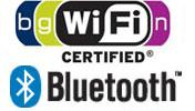 Wi-Fi, Bluetooth, built