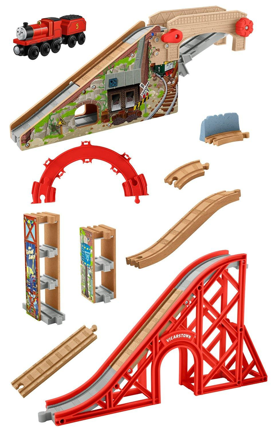 fisher price thomas the train wooden railway speedy surprise drop set toys games. Black Bedroom Furniture Sets. Home Design Ideas