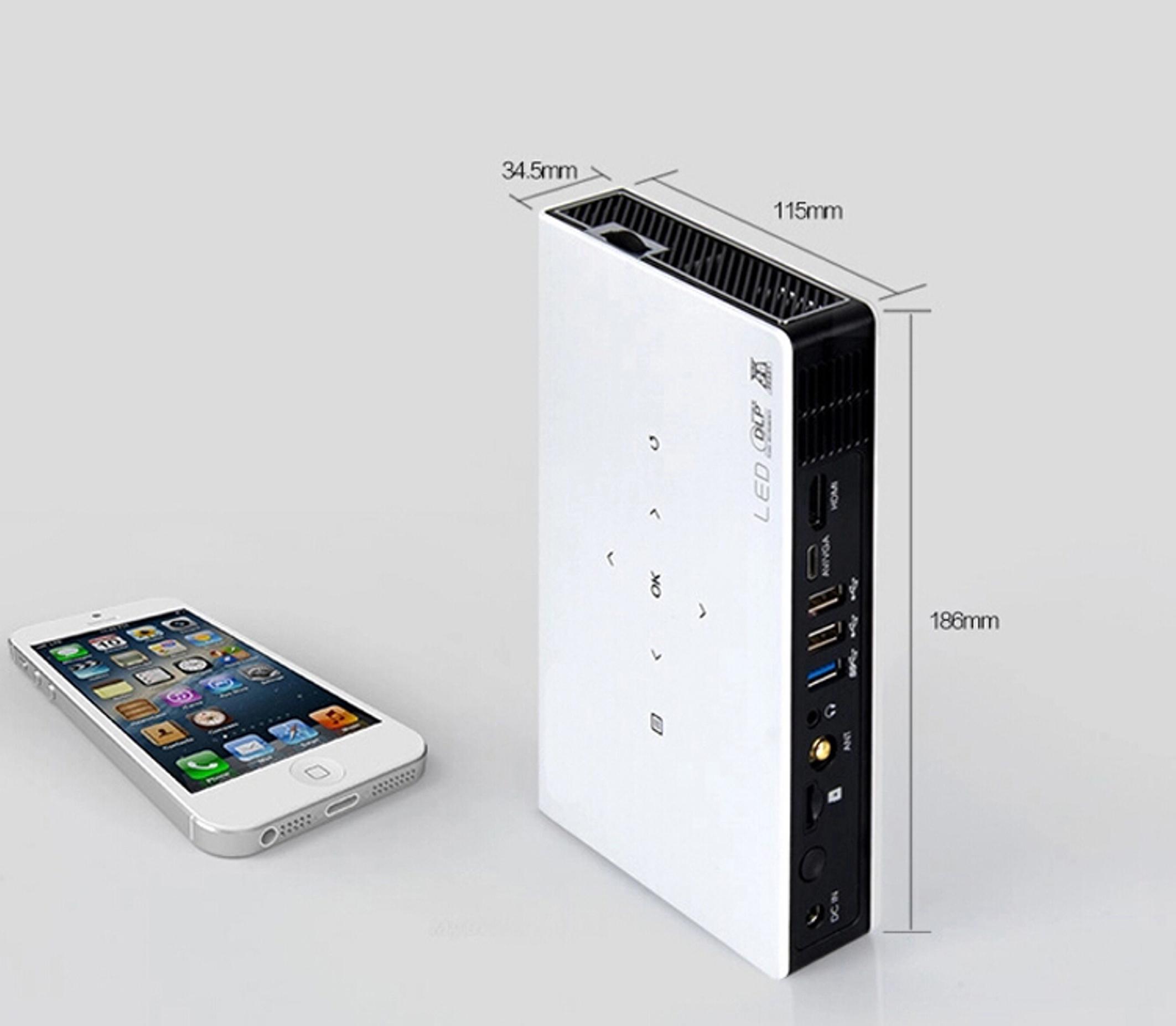 Amazon Com Zazz Dlp Led Portable Multimedia Wifi Short