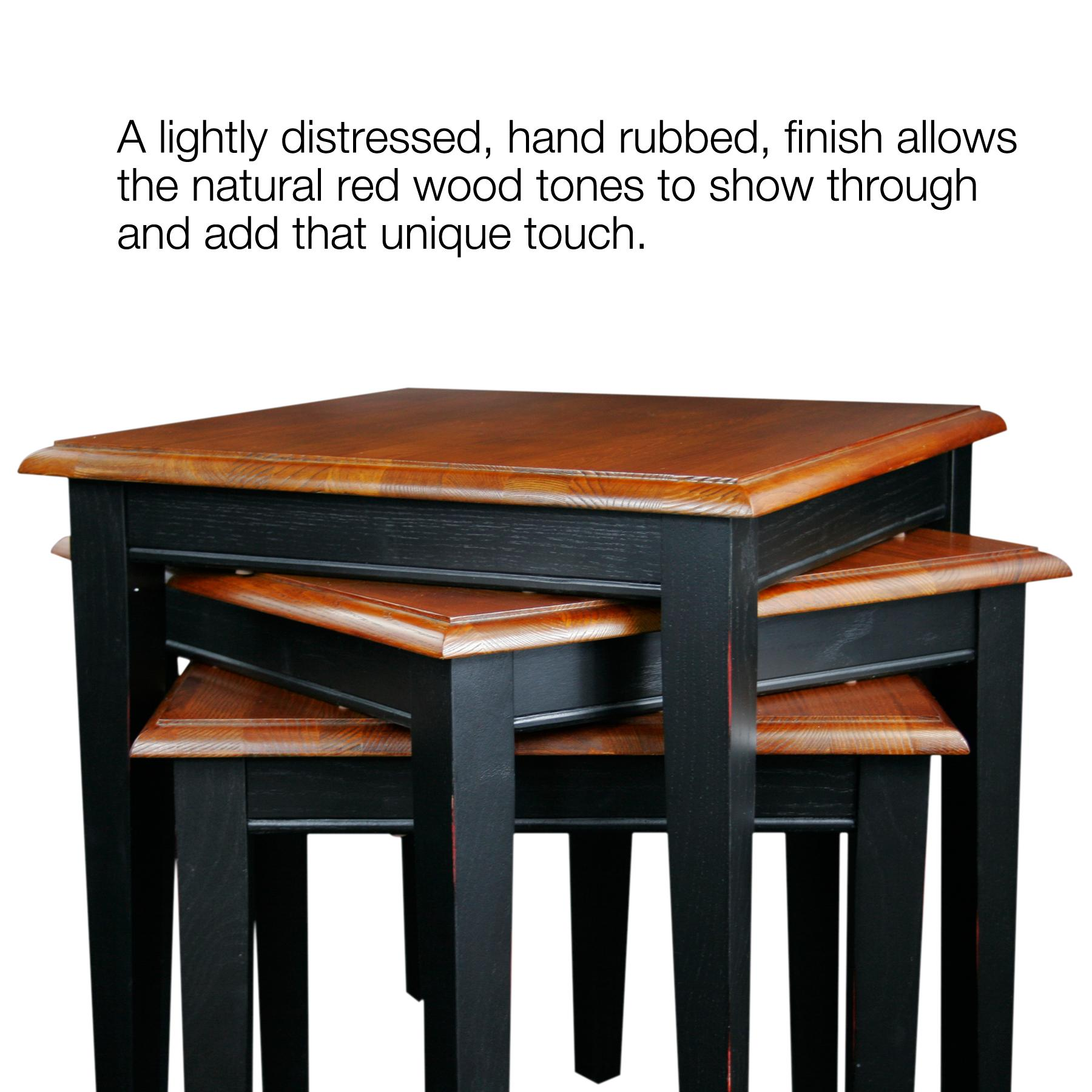 Leick furniture stacking set medium oak kitchen dining - Small space end tables concept ...