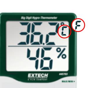 Hygrometer, Switchable Temperature Measurements
