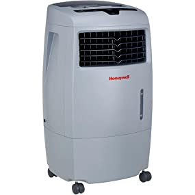 honeywell co25ae 52 pt portable evaporative air cooler with remote control grey