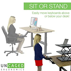 Amazon Com Kt2 Ergonomic Under Desk Adjustable Height