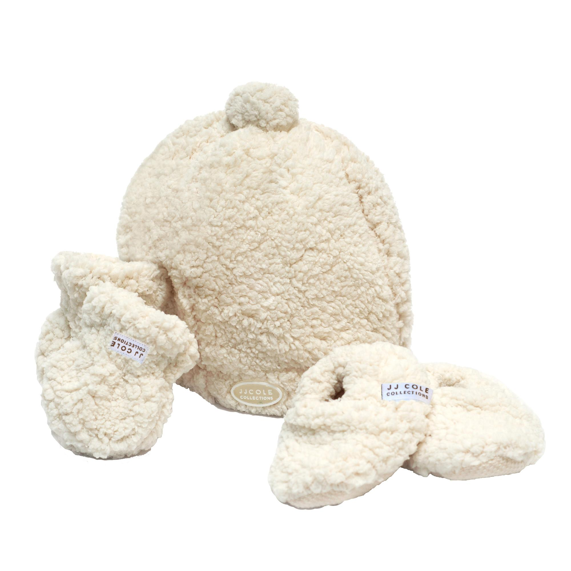 Amazon Com Jj Cole Bundleme Shearling Baby Hat Mittens