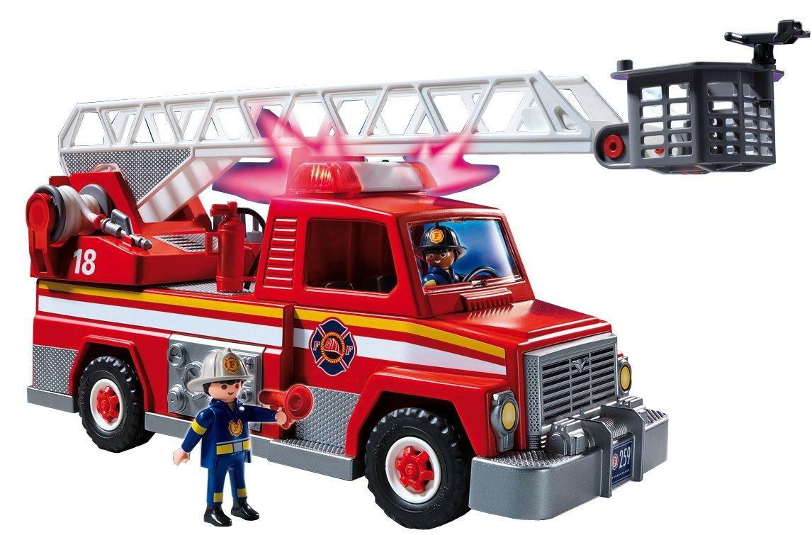 Amazon.com: PLAYMOBIL Rescue Ladder Unit Playset: Toys & Games