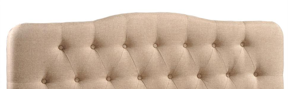 Bed, King, Queen, Full, Double, DHP, Zinus, South Shore, Upholstered, Headboard, Fabric, Tufted Twin