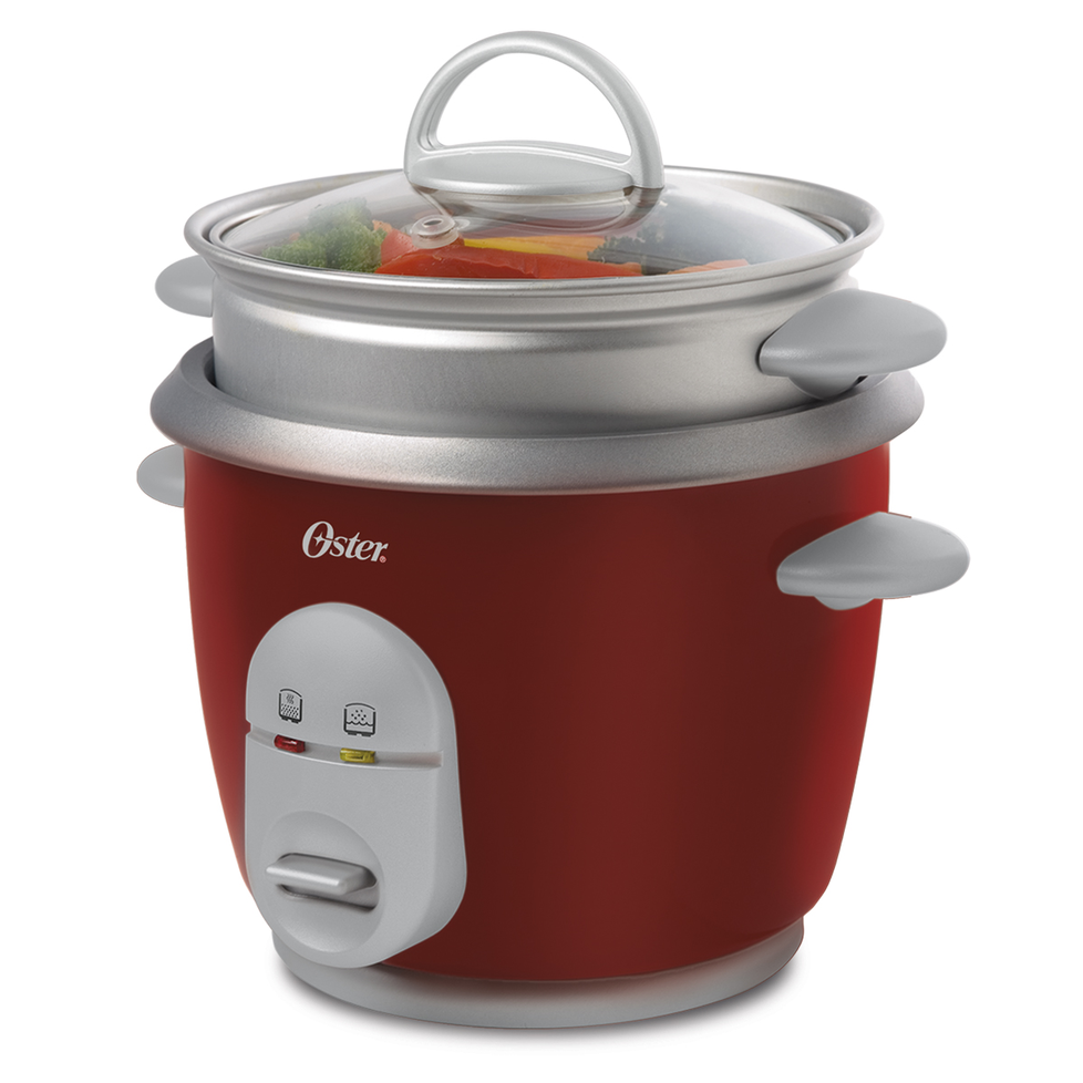 Amazon.com: Oster 6-Cup Rice Cooker with Steamer, Red