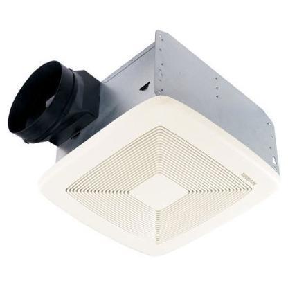 BROAN QTXE080 Very Quiet Bath Fan, 80 CFM, White Grille
