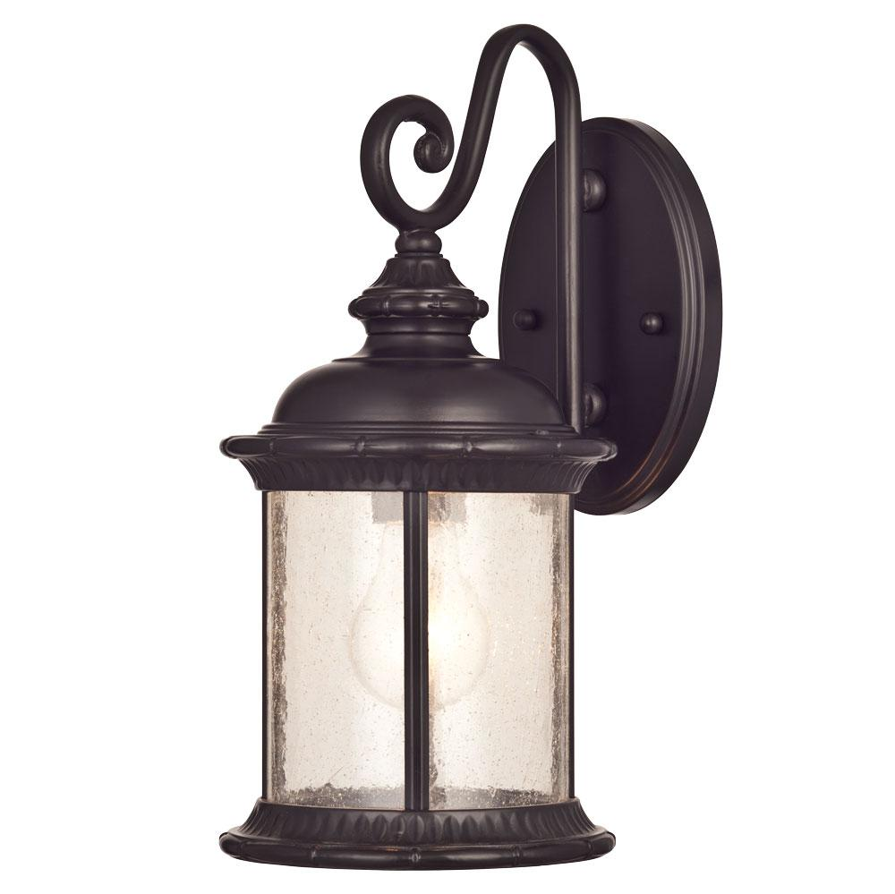 Westinghouse 6230600 New Haven One Light Exterior Wall Lantern On Steel With Clear Seeded Glass
