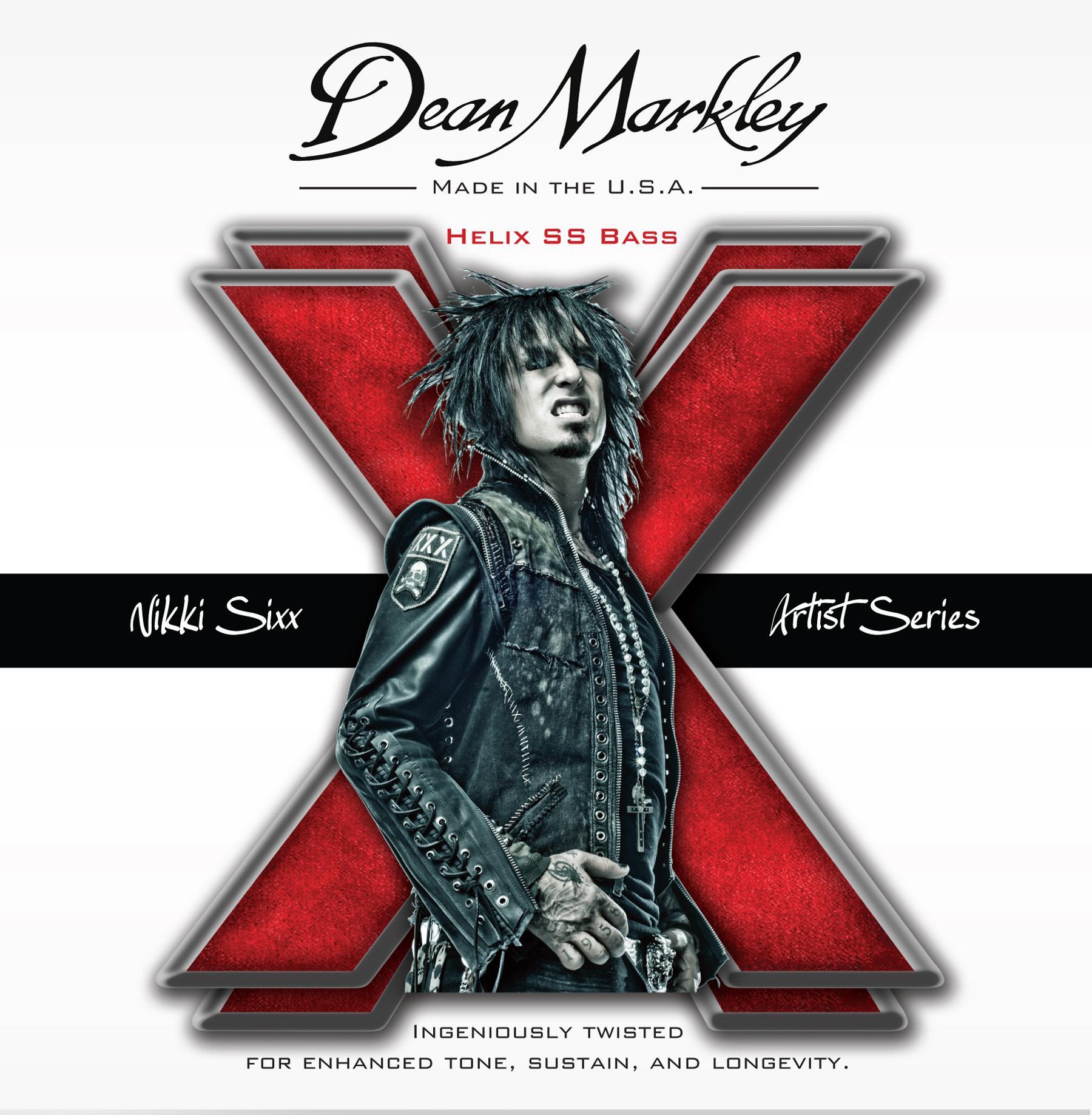 dean markley nikki sixx helix ss bass guitar strings