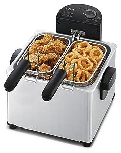amazon   t fal fr3900 triple basket deep fryer with