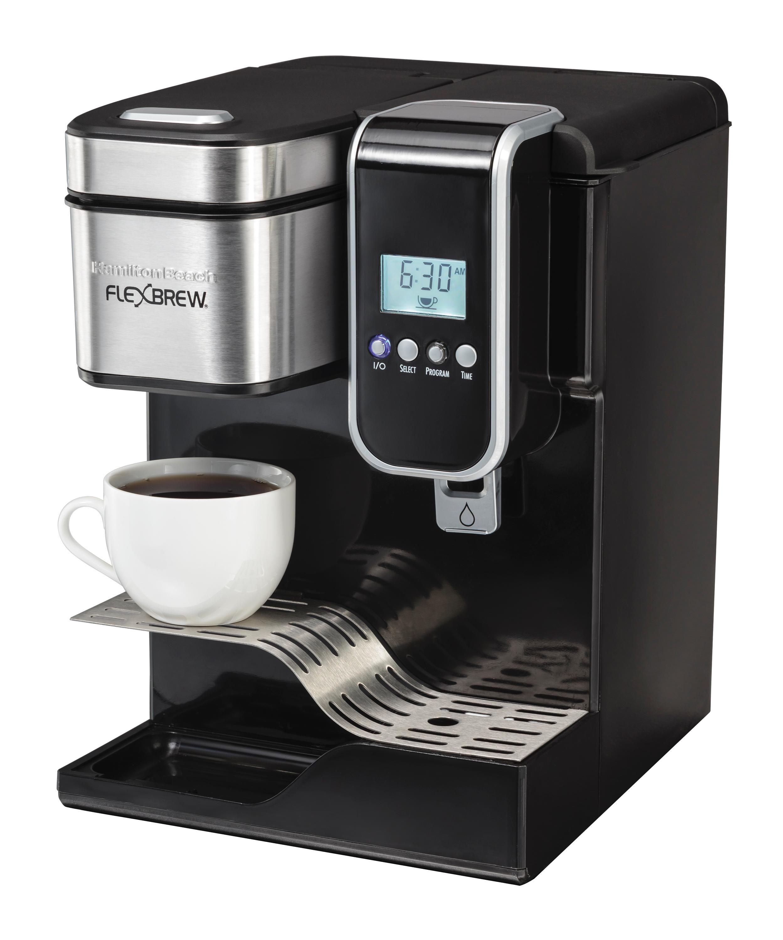 Coffee Maker With Water Line : Amazon.com: Hamilton Beach Single-Serve Coffee Maker, Programmable FlexBrew with Hot Water ...
