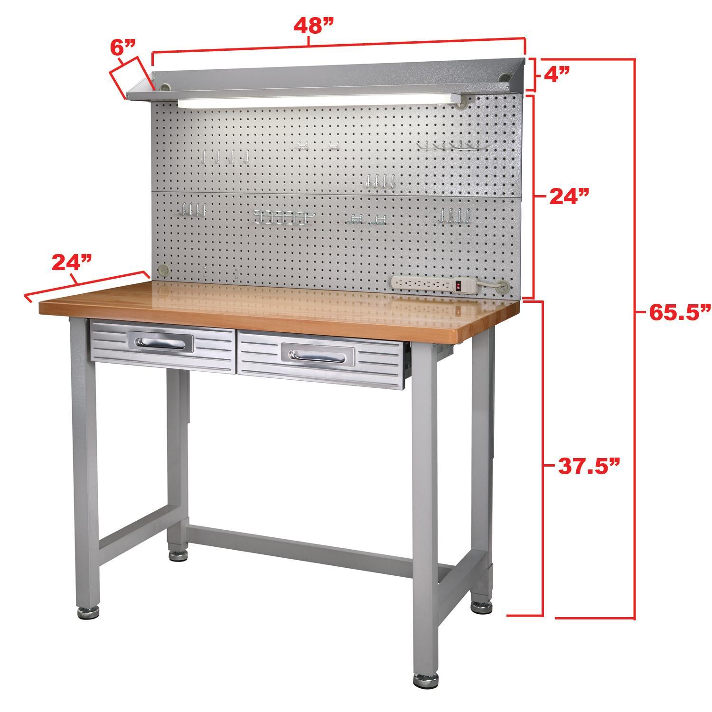 Seville Bench: Amazon.com: Seville Classics UltraHD Lighted Workbench