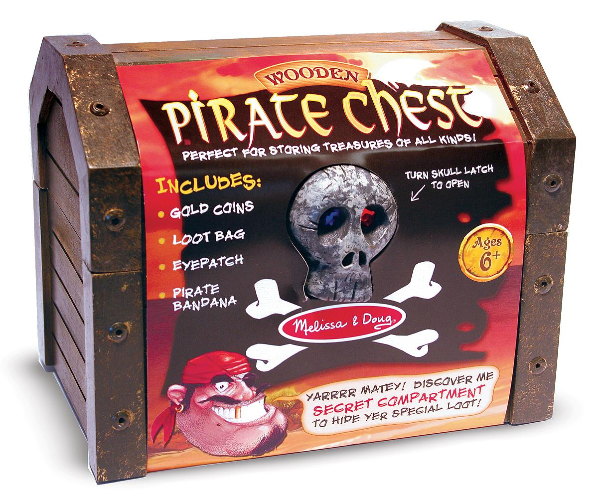 Toys And Treasures : Amazon melissa doug wooden pirate chest pretend