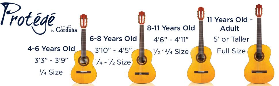 protege by cordoba c1 1 4 size 480mm scale acoustic nylon string classical guitar. Black Bedroom Furniture Sets. Home Design Ideas