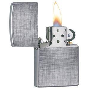 linen weave, chrome lighter, directional brushing, 28181, basket weave