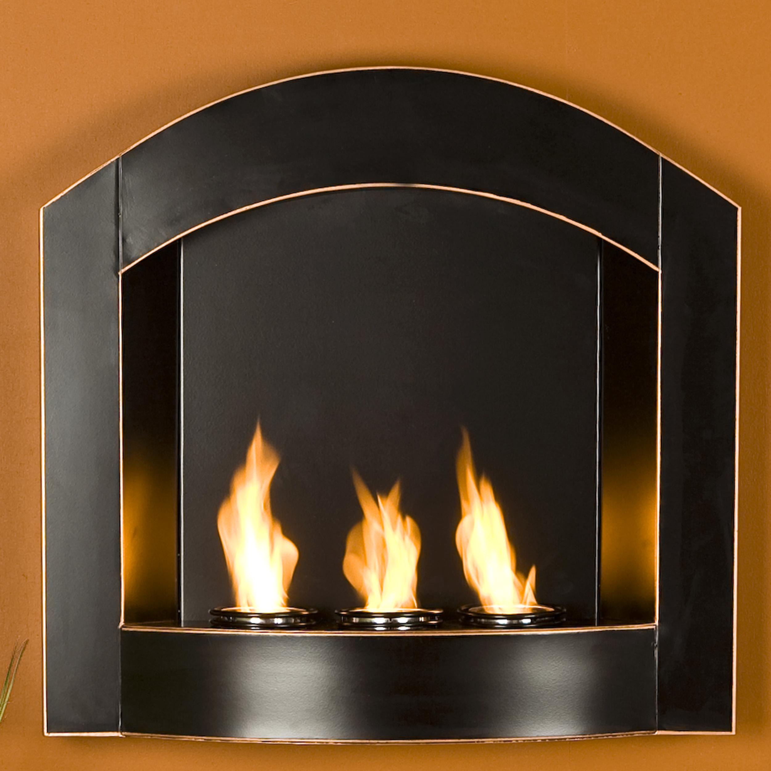wall ventless austin fuel mounted fireplace p in recessed ethanol inch bio gel built