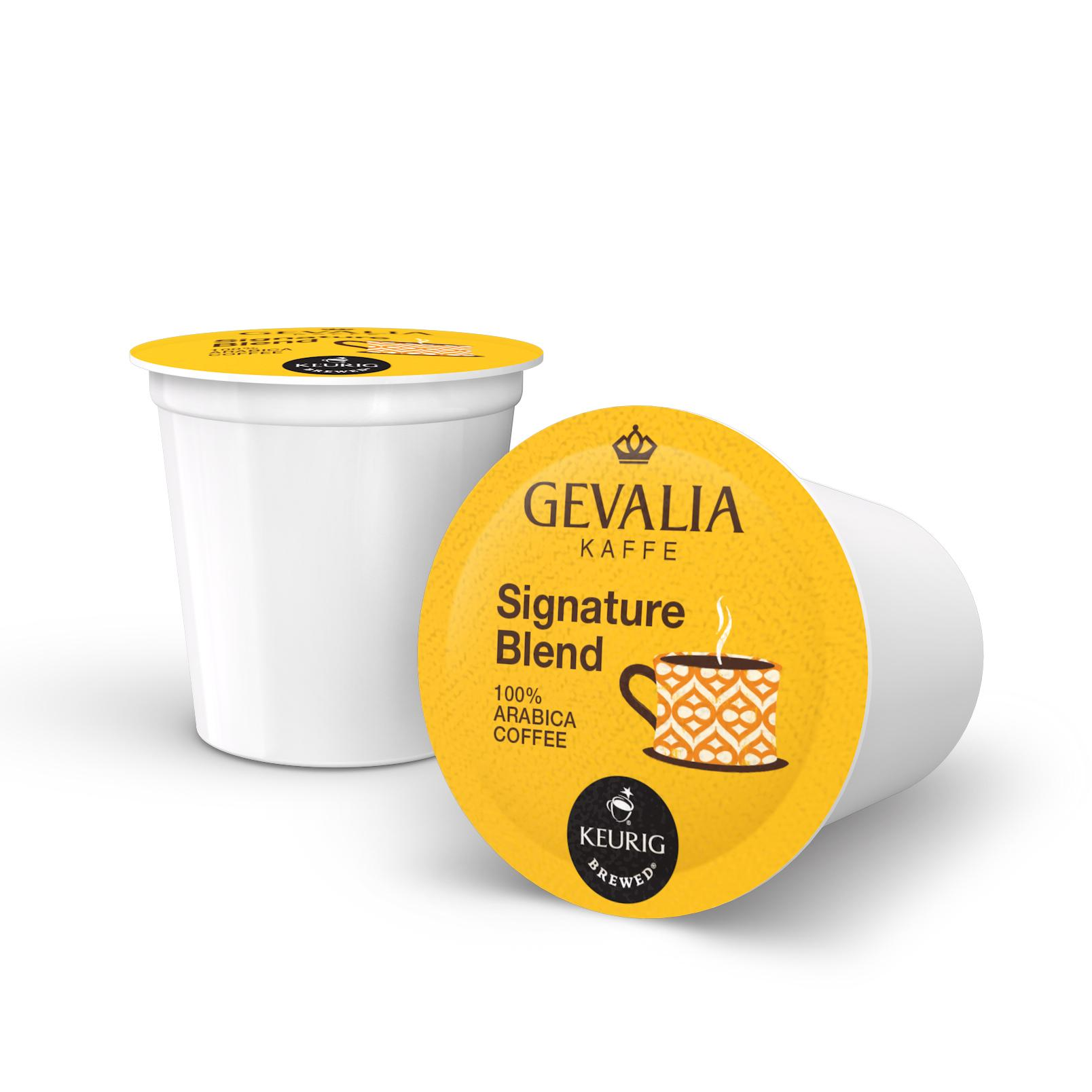 Amazon.com : GEVALIA Kaffe Signature Blend K-CUP Pods - 12 count : Coffee Brewing Machine Cups ...