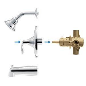 Moen T2133NHBN Eva PosiTemp Tub and Shower Trim Kit