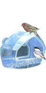 Clear Window Wild Bird Feeder