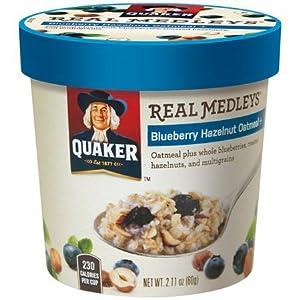 Quaker real medleys blueberry hazelnut