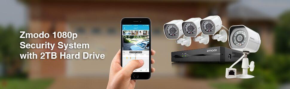 Amazon com : Zmodo SPoE Security System - 4 Channel NVR & 4