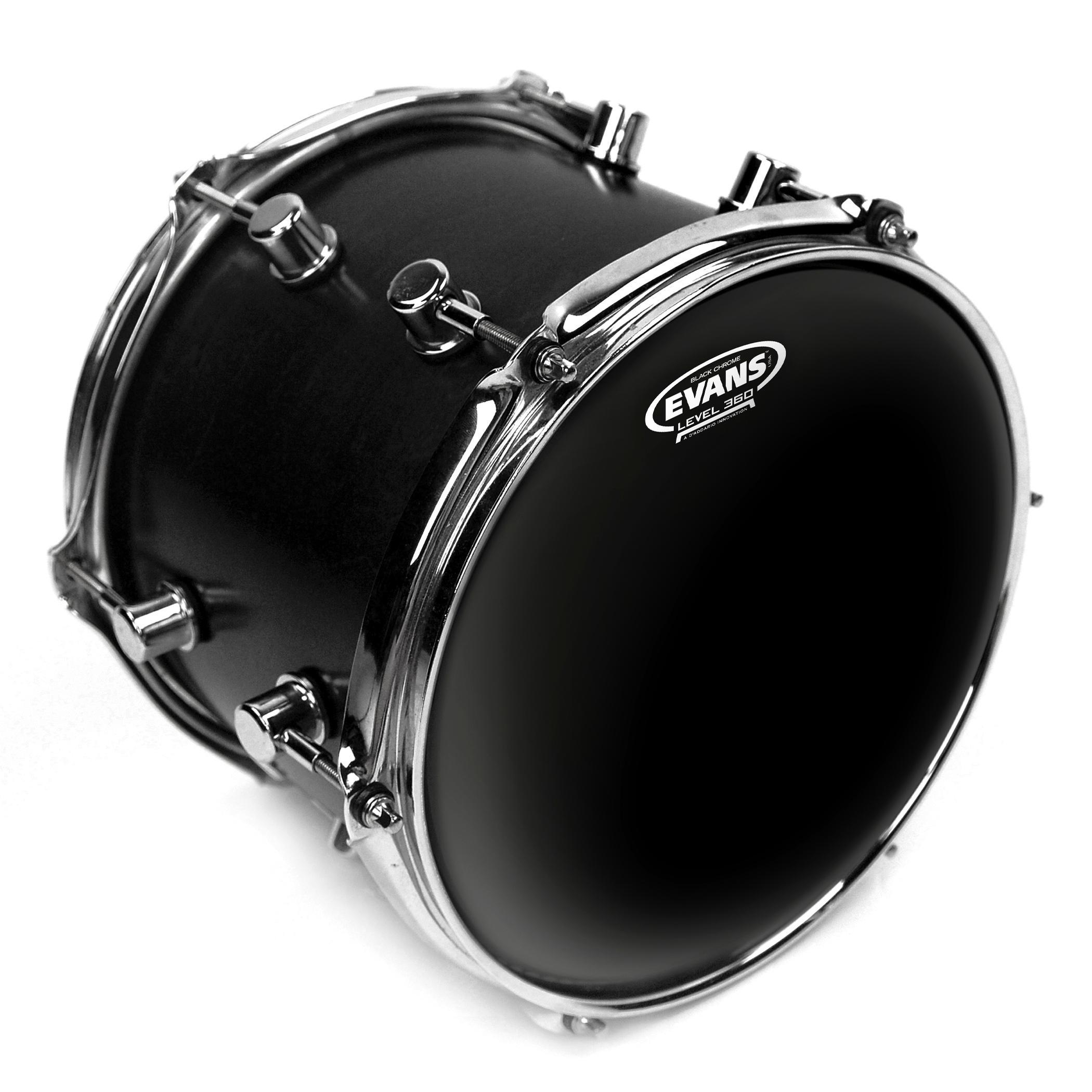 Amazon.com: Evans Black Chrome Drum Head, 10 Inch: Musical Instruments