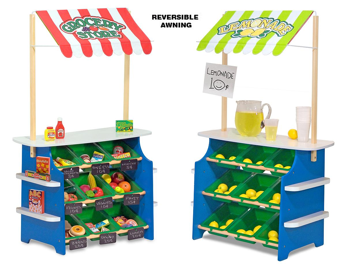 Melissa And Doug Table And Chairs Melissa & Doug Wooden Grocery Store and Lemonade Stand - Reversible ...