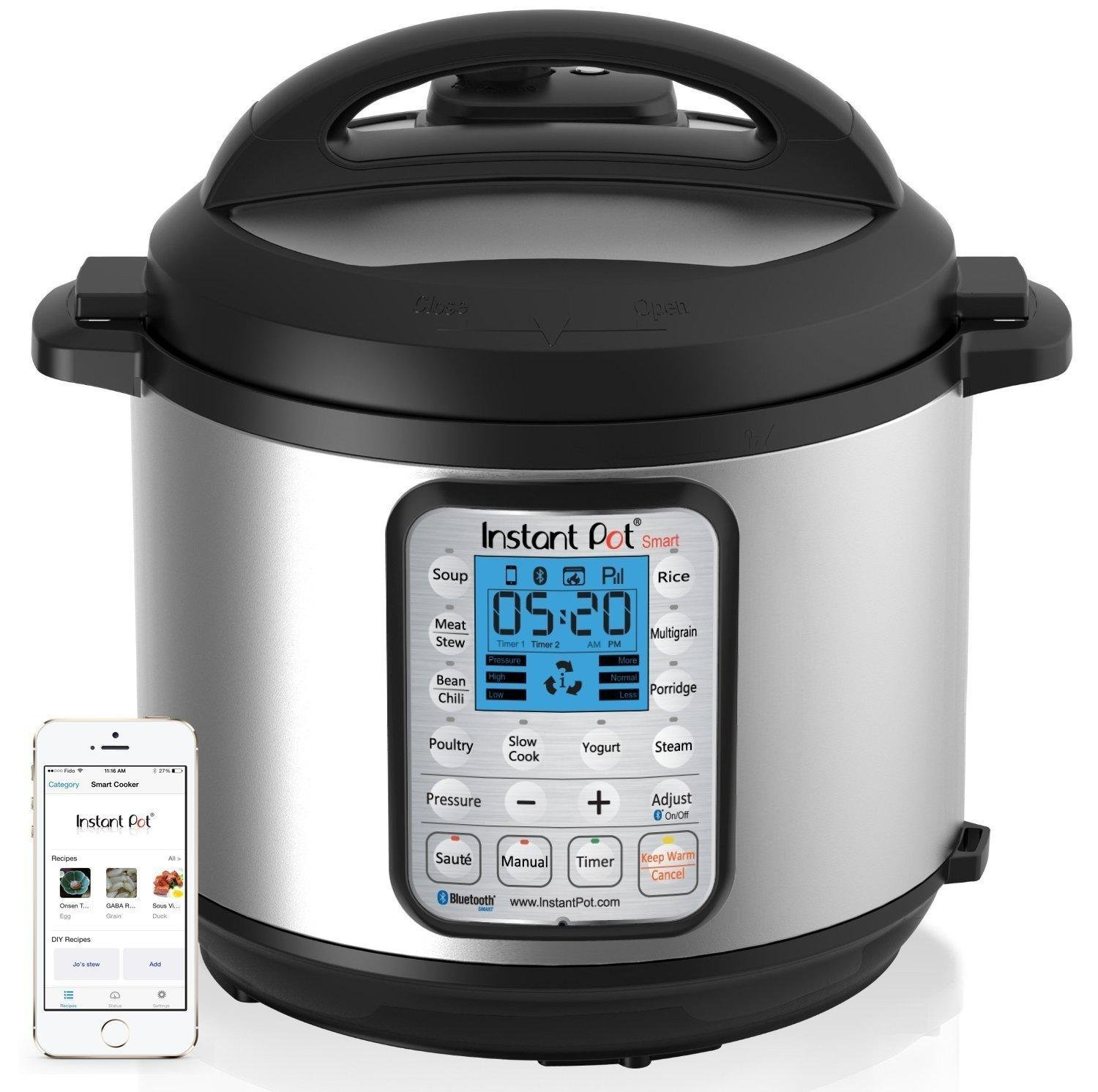 Instant Pot Pressure Cooker: Amazon.com: Instant Pot IP-Smart Bluetooth-Enabled