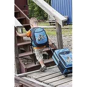 kids luggage, kids backpack, travel, preschool, carry on baggage, baggage
