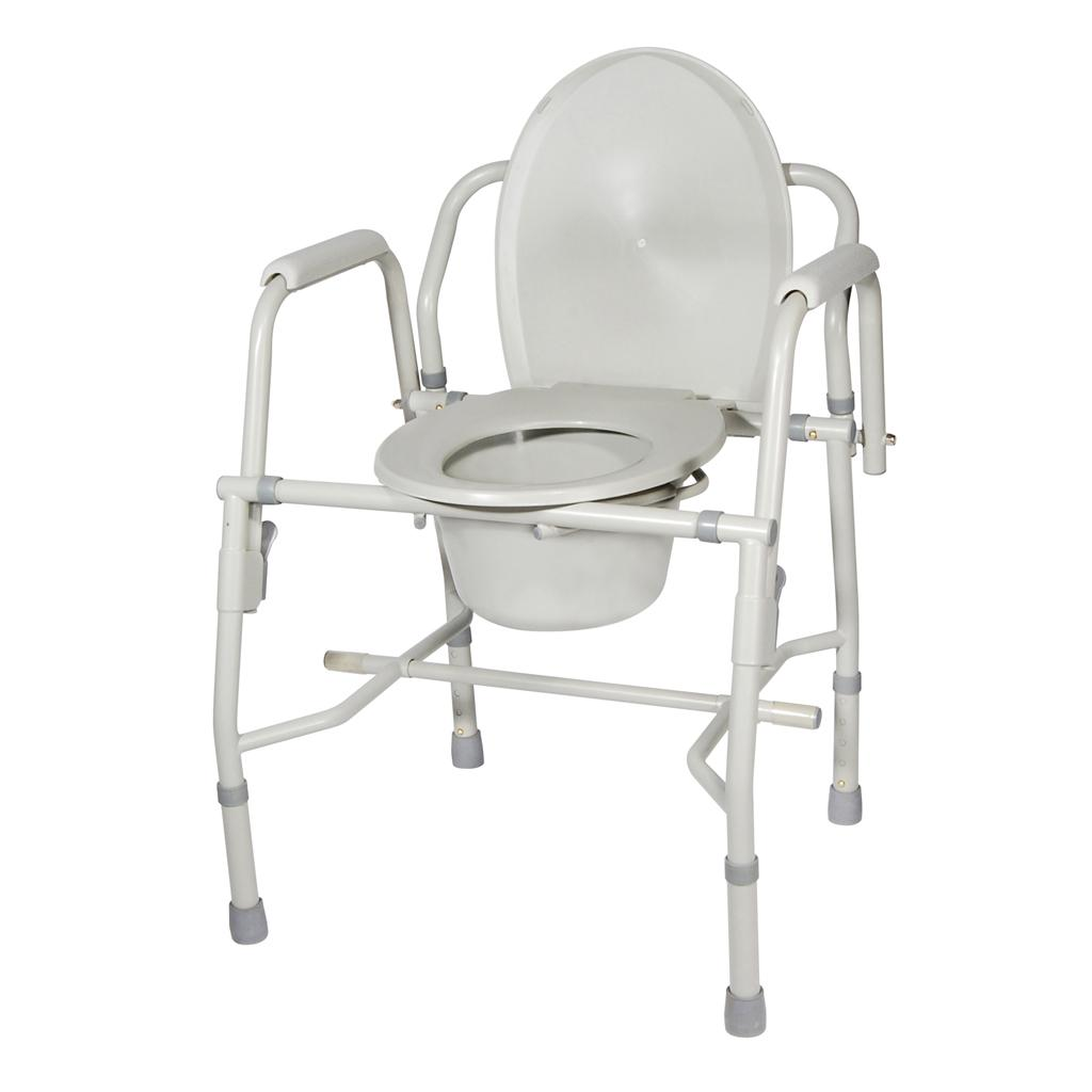 Amazon.com: Drive Medical K. D. Deluxe Steel Drop-Arm Commode (Tool ...