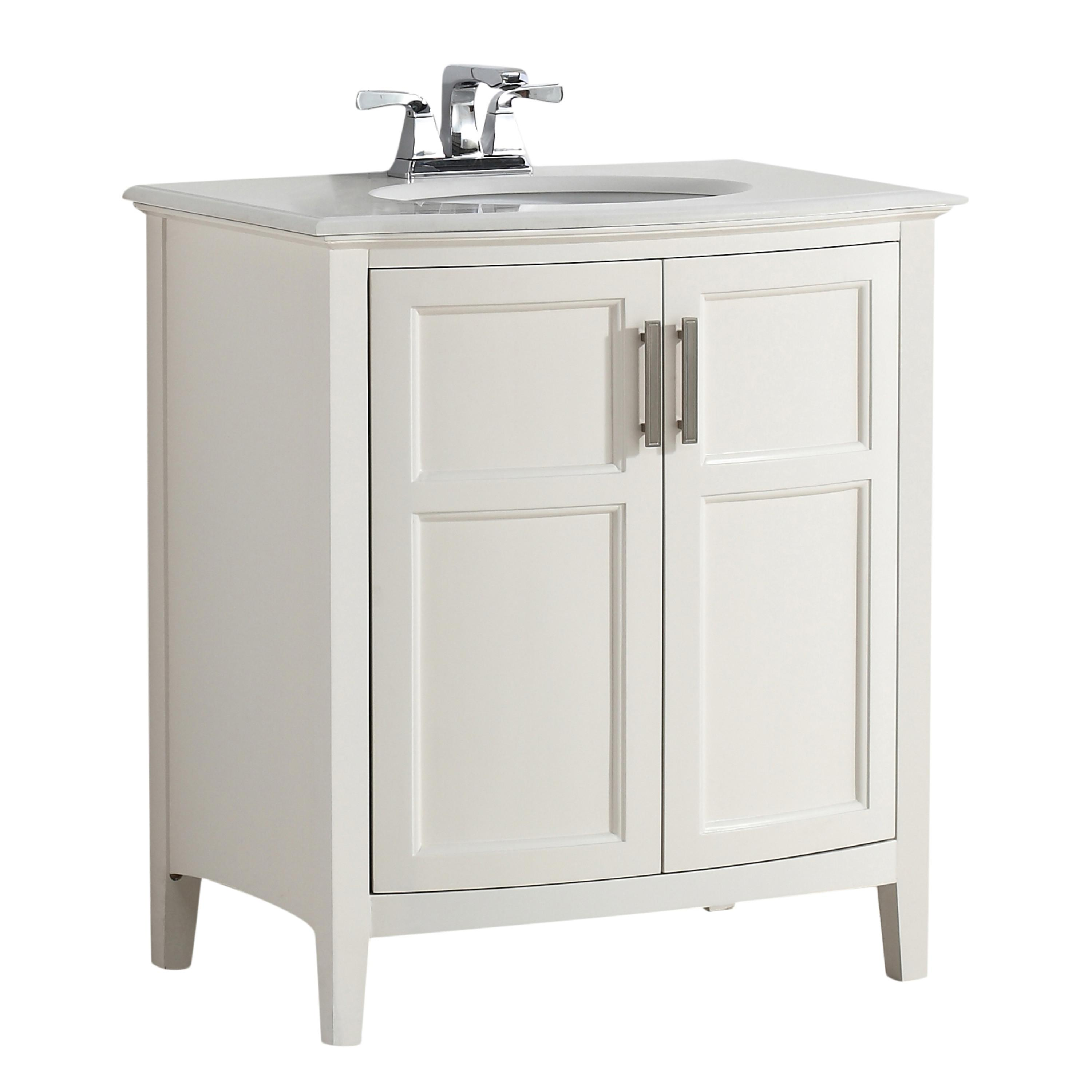 Vanity Front View : Simpli home winston quot bath vanity rounded front with
