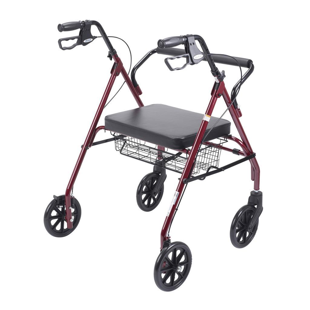 Amazon.com: Drive Medical Heavy Duty Bariatric Walker Rollator with ...