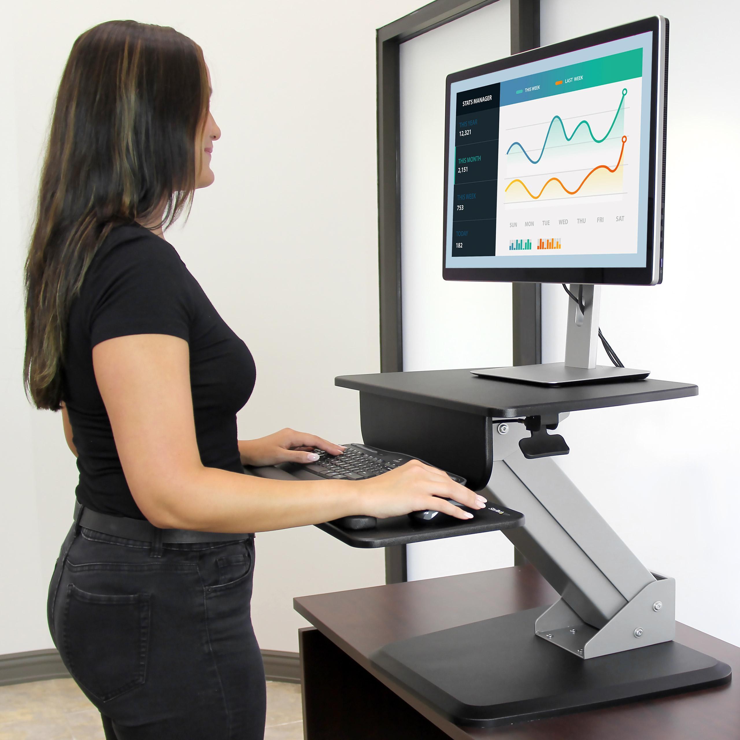 Amazon.com: StarTech.com Height Adjustable Standing Desk ...