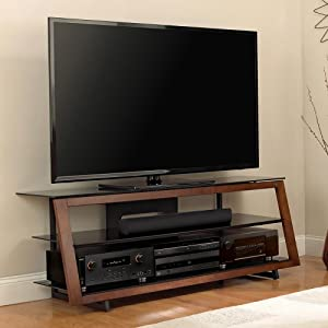 bell 39 o avsc4260 60 tv stand for tvs up to 65 medium espresso home audio theater. Black Bedroom Furniture Sets. Home Design Ideas