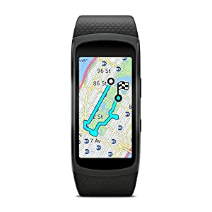 Built-in GPS | Samsung Gear Fit2 Smartwatch Large, Black | Leversage
