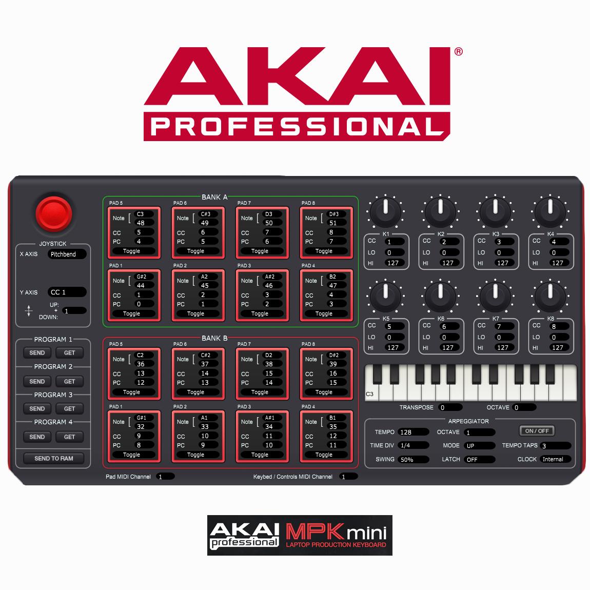 beat music maker dj piano usb midi drum pad keyboard controller joystic 694318015599 ebay. Black Bedroom Furniture Sets. Home Design Ideas