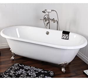 Cast Iron Double Ended Clawfoot Bathtub Tubs