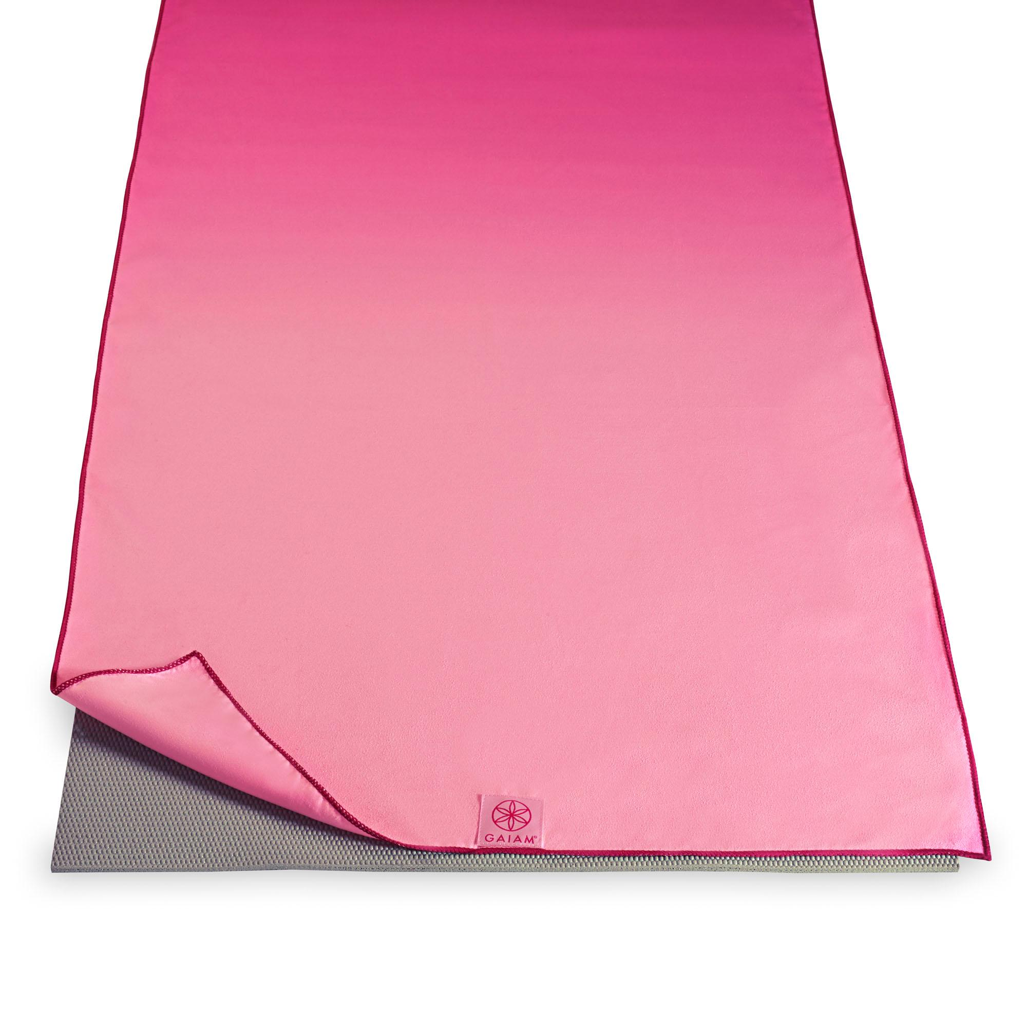 Amazon.com : Gaiam Hot Yoga Mat Towel, Pink Fandango