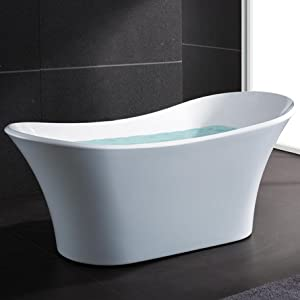 AKDY AZ-F274 Bathroom Freestand Acrylic Bathtub, White Color - Free ...