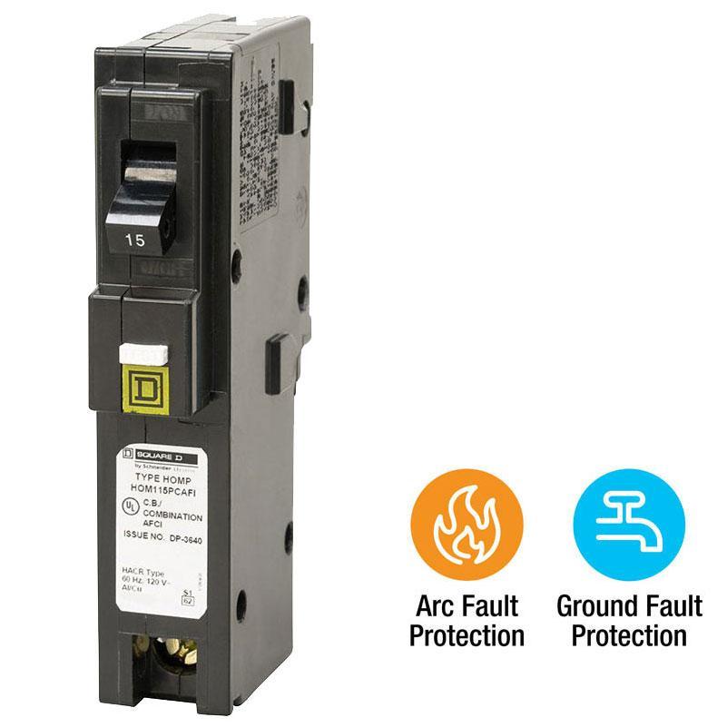 Square D By Schneider Electric Hom115pcafic Homeline Plug