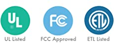 UL Listed FCC Approved ETL Listed