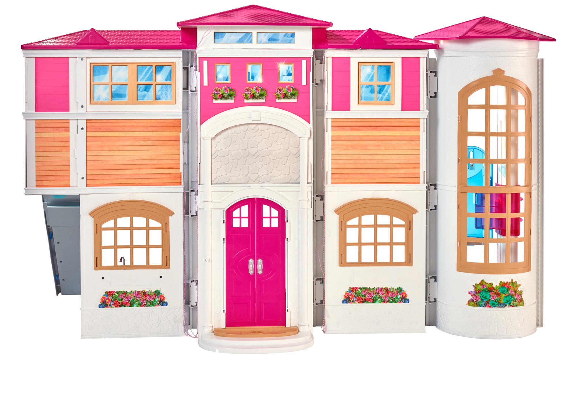 3d97e66b 5779 4f74 85be e8a42200e9a1._CB280625553__SR300300_ amazon com barbie hello dreamhouse toys & games Barbie Dreamhouse at bayanpartner.co