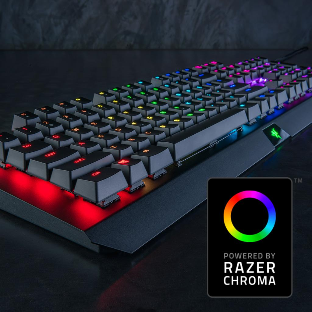 Amazon.com: Razer BlackWidow X Chroma, Clicky RGB Mechanical Gaming Keyboard, Military Grade ...