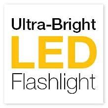 led, flashlight, 400 lumen, high powered strobe